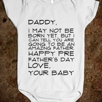 Supermarket: Happy Pre Father's Day Baby Onesuit from Glamfoxx Shirts