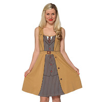 10th Doctor Costume A-line Dress - Brown,