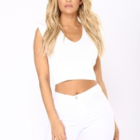 So Many Times Ruffle Top - White