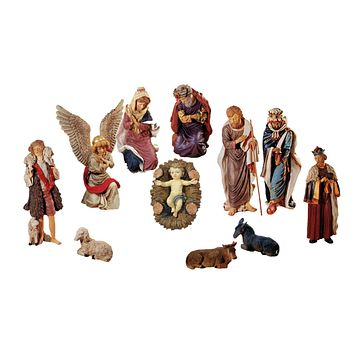 "50"" Large 11-Piece Outdoor Religious Nativity Christmas Yard Art Statue Set"