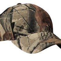 Upscale Camo Camouflage Cotton Poly Adjustable Hat Cap - Real Tree Hardwoods