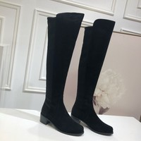 Kuyou Gx39930 Stuart Weitzman Sw Casual Shoes Women Knee High Boots In Leather
