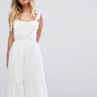 New Look Crochet Tierred Sundress at asos.com