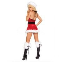 Cosplay Costumes Red White Black Fur Santa Sexy Christmas Costume [TSY111116044] - $26.99