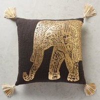 "Traveling Elephant Pillow by Anthropologie in Black Size: 20"" X 20"" Sneakers"