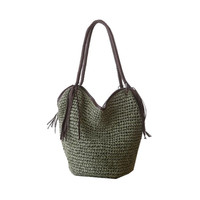 Knitting Travel Beach Bags Tote Tassel Designer Summer Straw Handbag High Quality Straw Beach Bag Big Boho Shopping Bag L1080