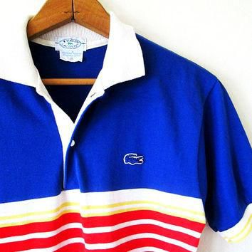 Shop alligator shirt on wanelo vintage izod lacoste striped alligator gator snap rugby collar polo shirt sz s sciox Images
