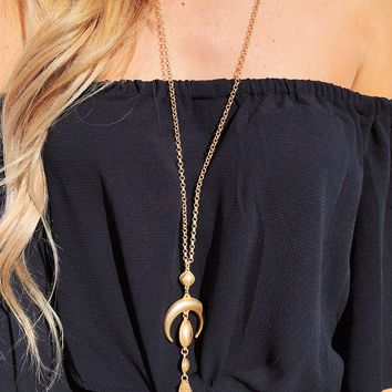 On An Adventure Necklace: Gold