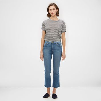 The Nerd Jean with Raw Hem - True Blue