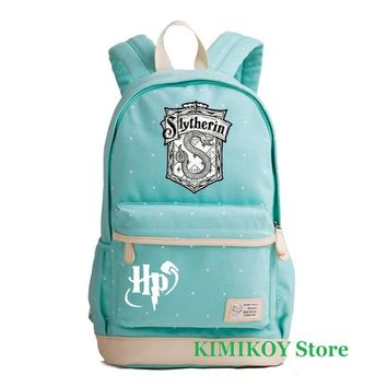 Student Backpack Children Kimikoy Harry Potter Hogwarts Canvas Laptop bag Rucksacks backpack Student School travel bag Daypack AT_49_3