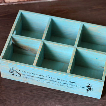 Accessory Box Vintage Weathered Home Cosmetic Storage Box Tray [6282856838]