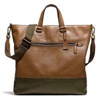 BLEECKER DAY TOTE IN COLORBLOCKED LEATHER