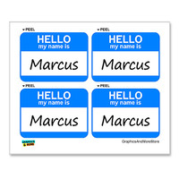 Marcus Hello My Name Is - Sheet of 4 Stickers