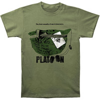 Platoon Men's  The First Casualty Slim Fit T-shirt Military Rockabilia