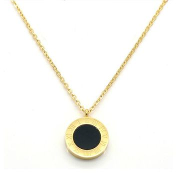 Cassia Double-Sided Dainty Necklace - Stainless Steel