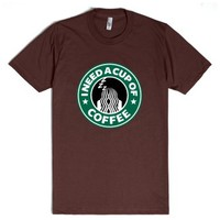 I Need a Cup of Coffee-Unisex Brown T-Shirt