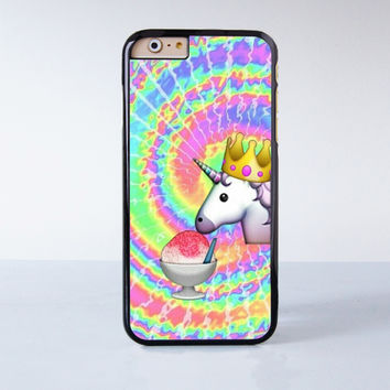 Horse King Eating the Ice Cream Plastic Case Cover for Apple iPhone 4 4s 5 5s 5c 6 6s Plus