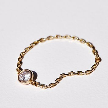Free People Tiny Diamond Chain Ring