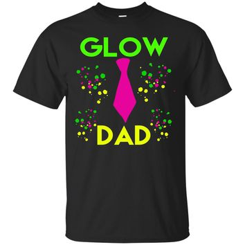 Mens Glow Dad Kids Birthday Party T Shirt