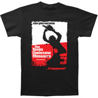 Texas Chainsaw Massacre Men's  Can You Survive Slim Fit T-shirt Black Rockabilia