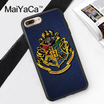 Harry Potter Hogwarts Printed TPU Case for iPhone 6 6S 6 Plus 6sPlus New Arrival For iPhone7 7Plus Cover Soft Rubber Phone Cases