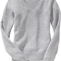 Old Navy Girls Uniform V Neck Sweaters