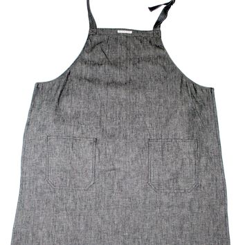 APRON - GRAY DENIM