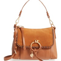 See by Chloé Small Joan Whipstitch Leather & Suede Shoulder Bag   Nordstrom