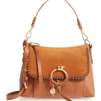 See by Chloé Small Joan Whipstitch Leather & Suede Shoulder Bag | Nordstrom
