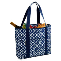 Extra Large Insulated Tote, Trellis Blue, Coolers & Thermal Bags