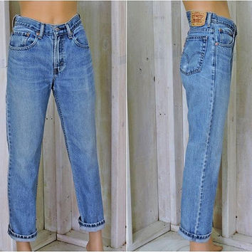 Vintage Levis 516  jeans 31 X 30  womens size 7 / 8 / slim fit /  high waisted Levi jeans