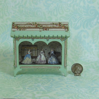 Miniature Three Arch Theater Vignette in Pale Green