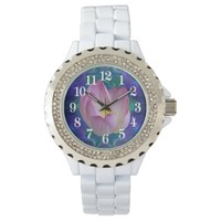 Pink lotus flower watch