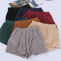 Corduroy shorts sold by FE CLOTHING