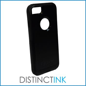 "DistinctInk™ Custom Black OtterBox Commuter Series Case for Apple iPhone 7 Plus / 8 Plus (5.5"" Screen) - Marijuana Leaf Photo"
