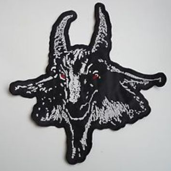 BATHORY GOATHEAD EMBROIDERED BACK PATCH