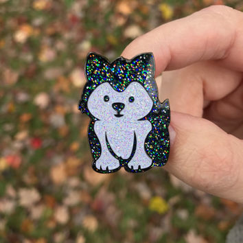 Husky pin, husky lapel pin, pins, lapel pins, enamel pins, dog pins, cute pins