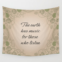 Earth Music Wall Tapestry by LLL Creations