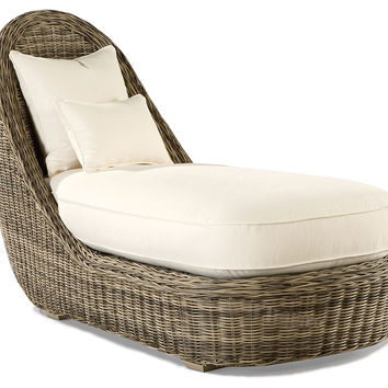Summer Garden Chaise Lounge, Outdoor Ottomans