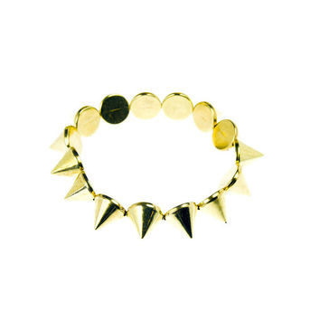 Cone Spike Stretch Bracelet