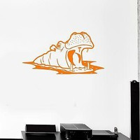 Wall Stickers Vinyl Decal Hippo Animal Nursery Africa For Kids Room Unique Gift (ig1639)