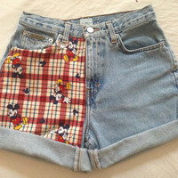 "26"" High Waisted Mickey Mouse Shorts"