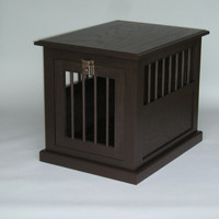 Wooden Dog box, side and or night table.