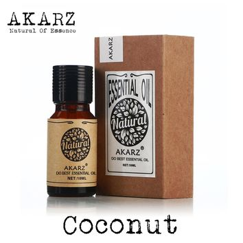 AKARZ Famous brand natural aromatherapy coconut oil Beauty care Hair care Protect teeth coconut essential oil