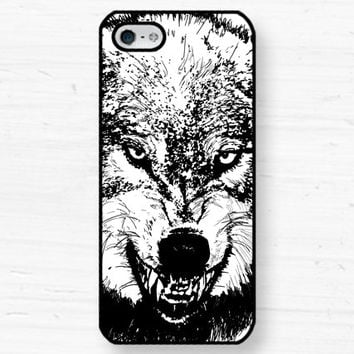 Wolf Stark iPhone Samsung Case - 5, 4 Galaxy s2 s3 s4 note, Ipod Touch 4, 5, Blackberry - Angry Teeth Snarl 0048 DD