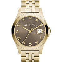 Marc by Marc Jacobs Women's The Slim Gold-Tone Stainless Steel Bracelet Watch 36mm MBM3349
