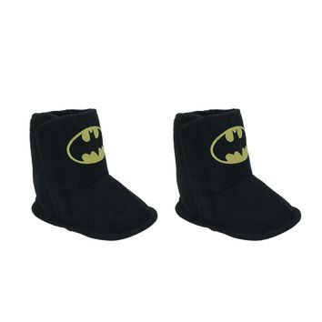 Batman Dark Knight gift Christmas New Fashion Warm Winter Baby Boys Batman Super Ankle Snow Boots Infant Shoes Black Antiskid Shoes First Walkers AT_71_6