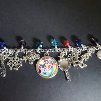 Disney fairy tale princess inspired charm bracelet
