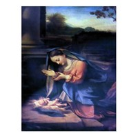 Nativity Scene Gifts for Christmas Postcard