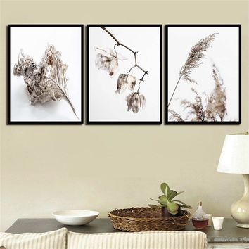 Modern Painting Printing Decor Living Room Wall Art Dead Leaves And Dog'S Tail Grass Canvas Pictures Nordic Style Fashion Poster